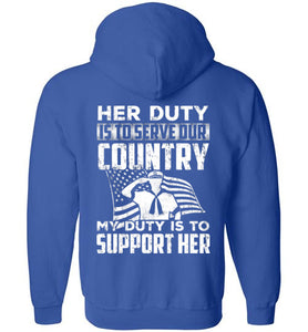 Gildan Proud Navy Dad Duty CR Zip Hoodie