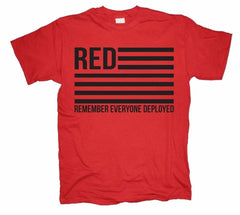RED Remember Everyone Deployed T-shirts
