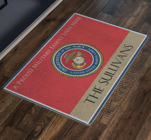 Military Family - The Sullivans Personalizable Doormat - MotherProud