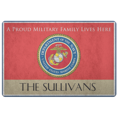 Military Family - The Sullivans Personalizable Doormat