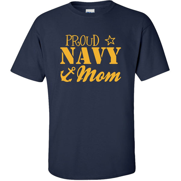 Proud Navy Mom Military T-shirts