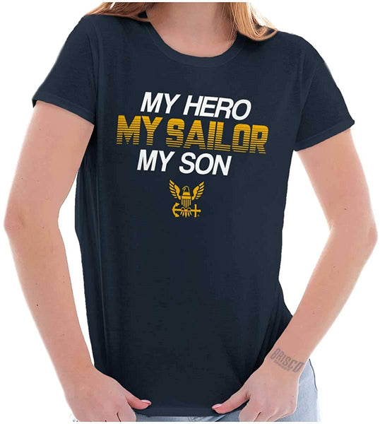 Navy Mom My Hero Sailor T-shirts