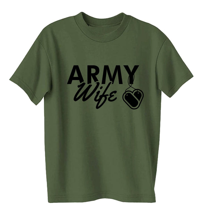 Army Wife Dogtags T-shirts