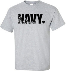 Navy Girlfriend Cute T-shirts