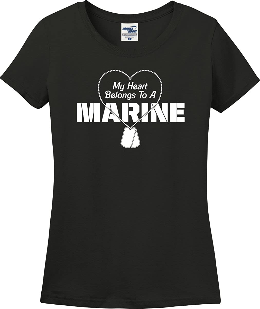 My Heart Belongs to A Marine T-shirts