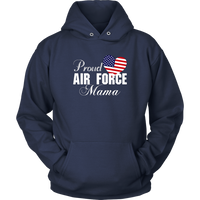 Gift for Grandma - Proud Air Force Mama Heart T-shirt