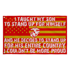 Marine Mom Couldn't Be More Proud Flag - MotherProud