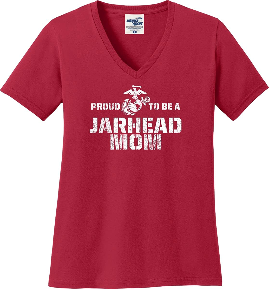 Proud to Be A Jarhead Marine Mom V-Necks