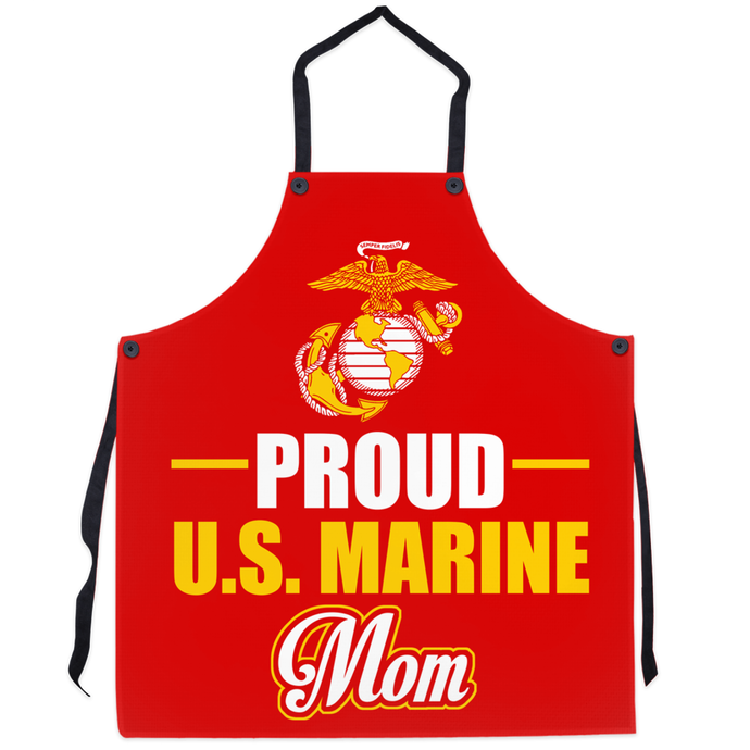 Proud U.S Marine Mom Apron - MotherProud