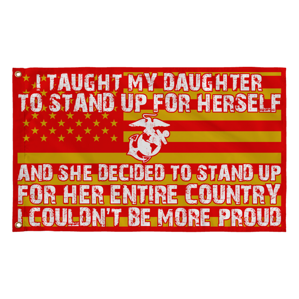 Marine Mom Couldn't Be More Proud Daughter Flag
