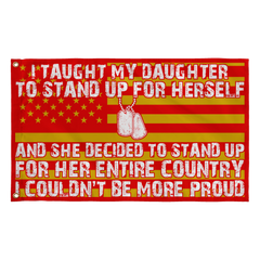 Army Mom Couldn't Be More Proud Daughter Flag