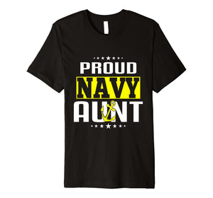 Proud Aunt Navy T-shirts