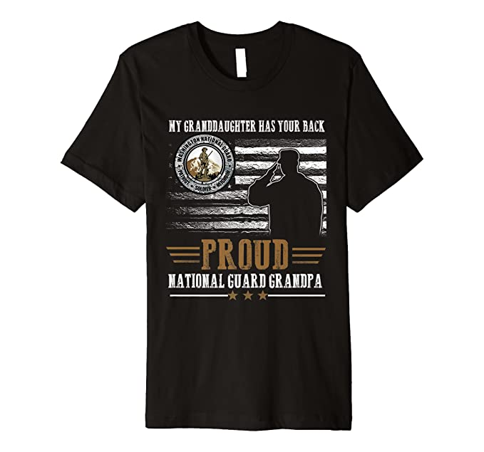 National Guard Grandpa Granddaughter T-shirts