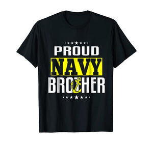 Proud Brother Navy T-shirts