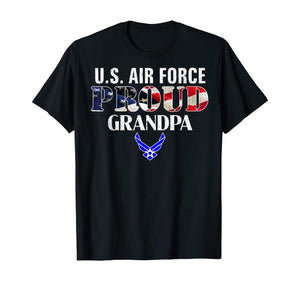 US Proud Air Force Grandpa T-shirts