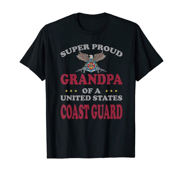 Super Proud Coast Guard Grandpa T-shirts