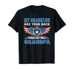 Grandson Has Your Back Air Force Grandpa T-shirts