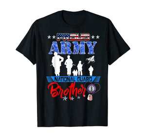 Proud Army National Guard Brother Cool T-shirts