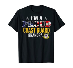 I'm A Proud Coast Guard Grandpa T-shirts