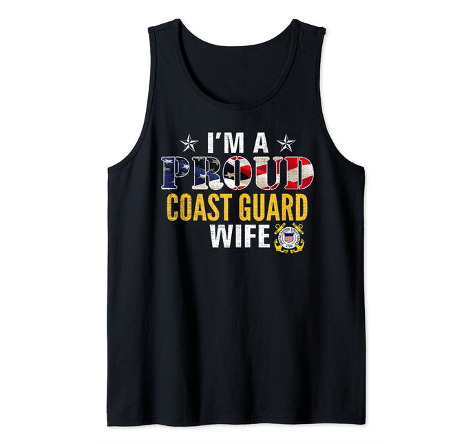 I'm A Proud Coast Guard Wife Tank Top