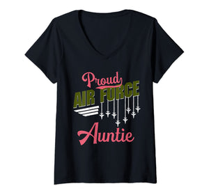 Proud Air Force Auntie V-necks