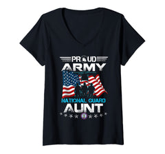 Proud Army National Guard Aunt V-Necks