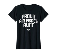 Proud Air Force Aunt Military T-shirts