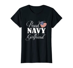 Proud Navy Girlfriend Flag T-shirts