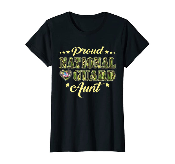 National Guard Aunt Camo T-shirts