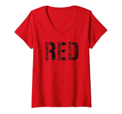 Red Friday Remember Everyone Deployed V-Necks