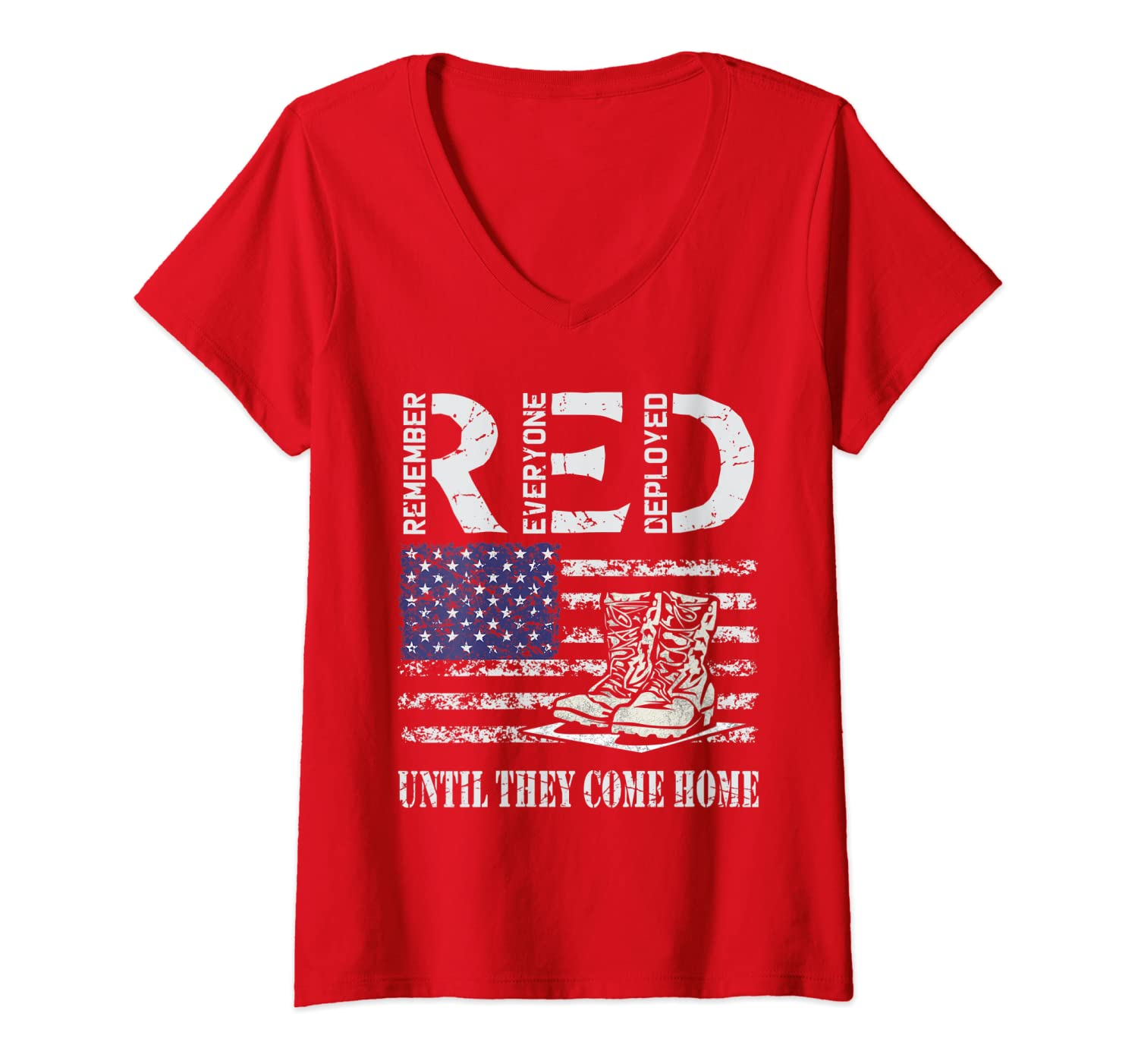 Women RED Friday V-Neck T-shirts