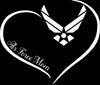 Air Force Mom Curve Heart Decal - MotherProud
