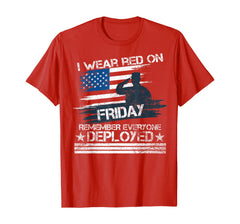 Wear Red Friday Remember Everyone Deployed T-shirts