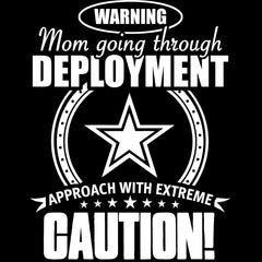 Army Mom Approach With Caution Decal