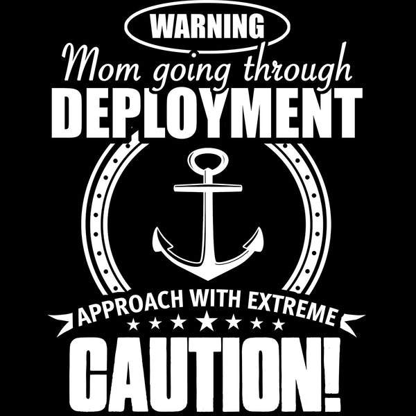 Navy Mom Approach With Caution Decal