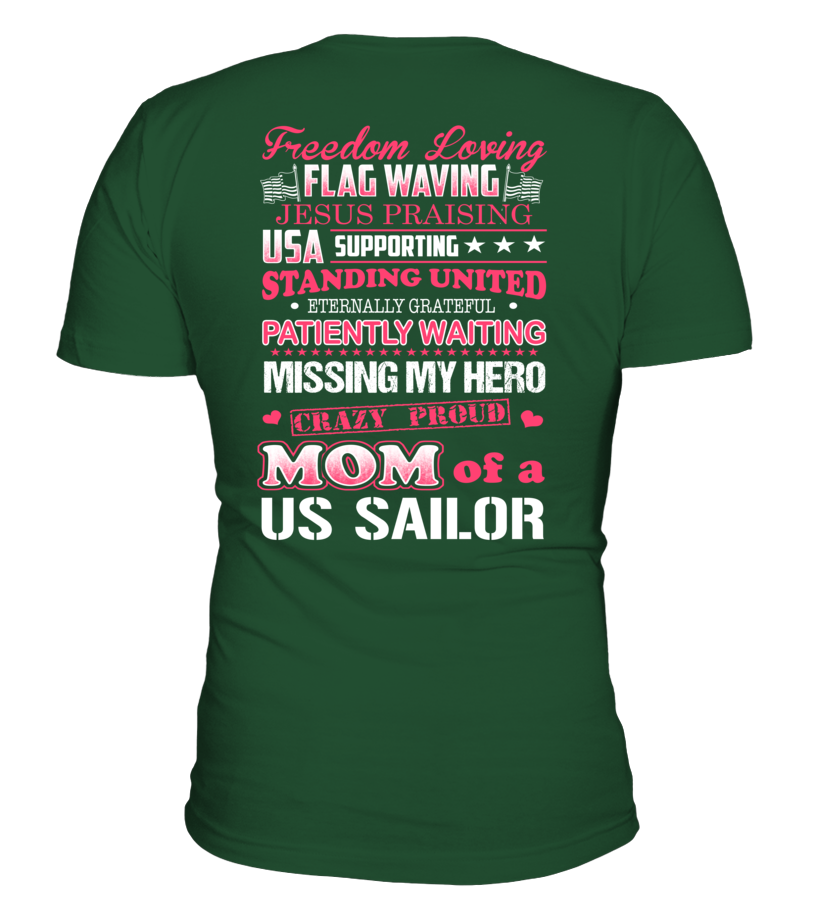Crazy Navy Mom Of US Sailor T-shirts