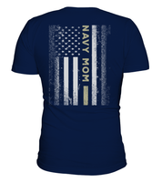 Navy Mom Flag T-shirts