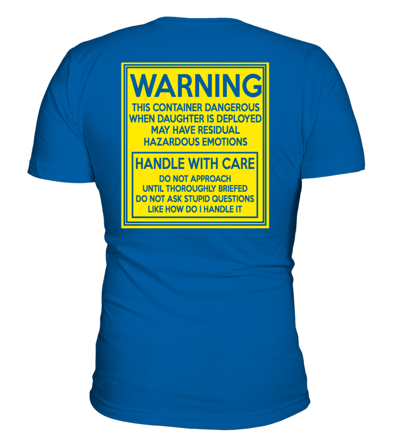 Marine Mom Handle With Care Daughter T-shirts