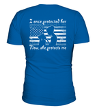 Air Force Mom Once Protected Flag Daughter T-shirts - MotherProud