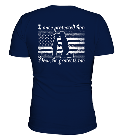 Navy Mom Once Protected Flag T-shirts