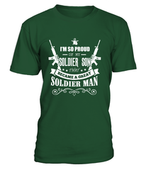 Army Mom - Became A Great Man T-shirts