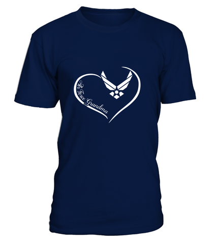 Air Force Grandma Curve Heart T-shirts