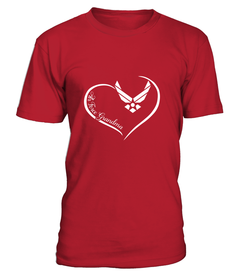 Air Force Grandma Curve Heart T-shirts - MotherProud