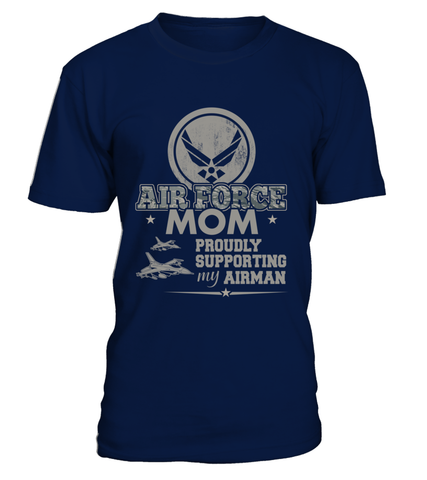 Air Force Mom Proudly Camo T-shirts