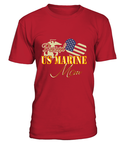 Proud US Marine Mom Heart T-shirts