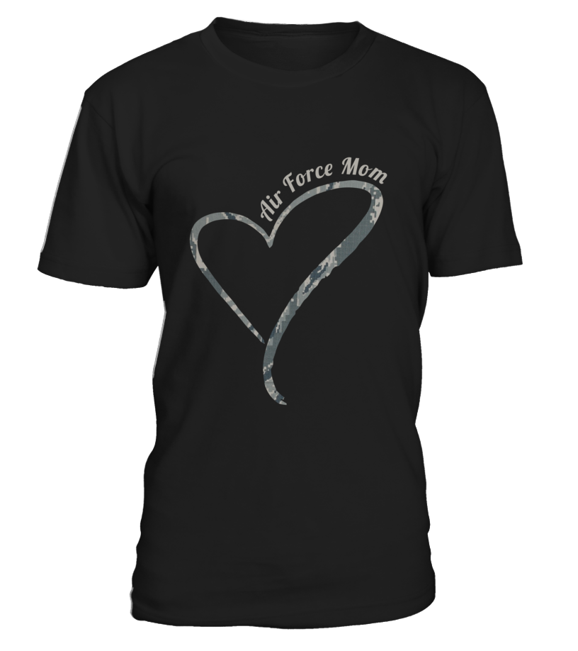 Air Force Mom Camo Heart T-shirts - MotherProud