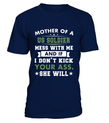 Army Mom Kick Ass Daughter T-shirts