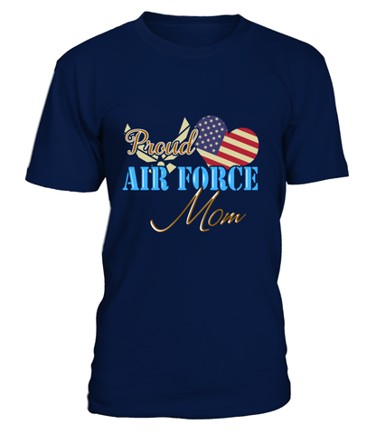 Proud US Air Force Mom Heart T-shirts