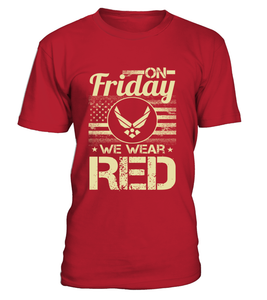 Air Force Mom We Wear RED T-shirts - MotherProud