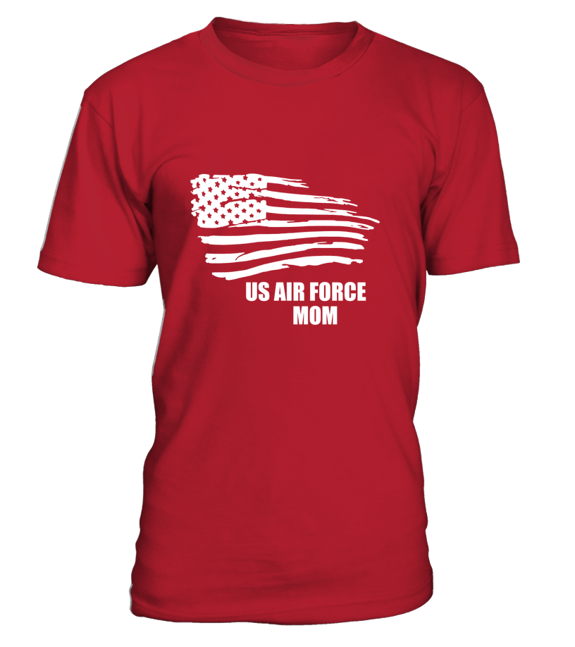 US Air Force Mom Flying Flag T-shirts